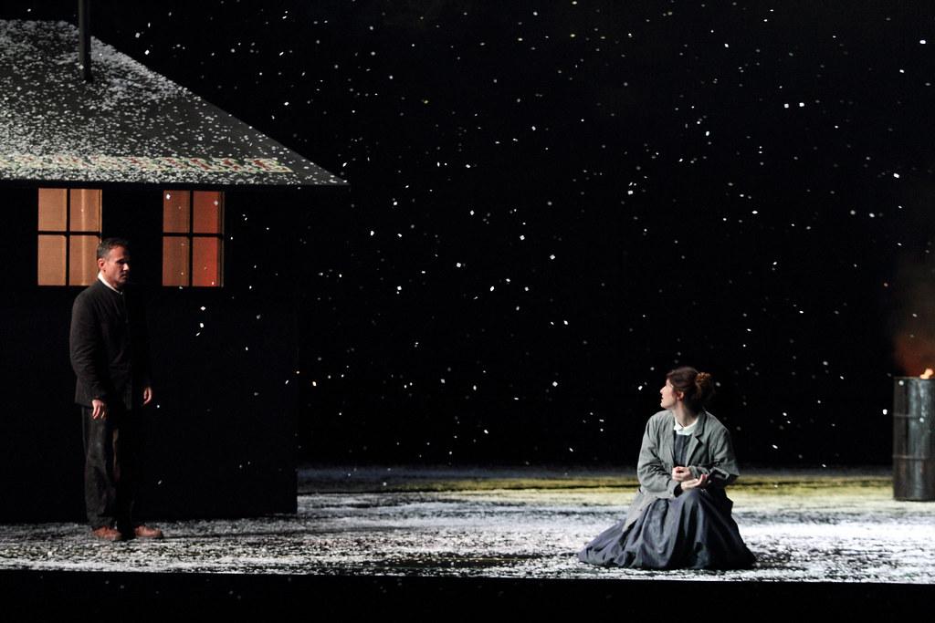 Mariusz Kwiecień as Marcello and Nicole Car as Mimì in La bohème, The Royal Opera ©2017 ROH. Photograph by Catherine Ashmore.