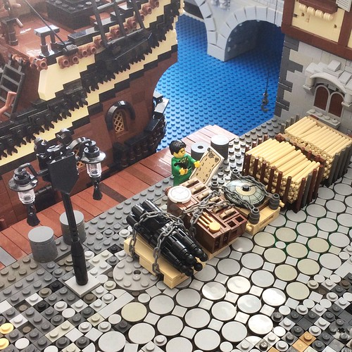 The merchant guild trades with different exclusive products: multiple canons, long case clocks, turrets clocks and various ressources