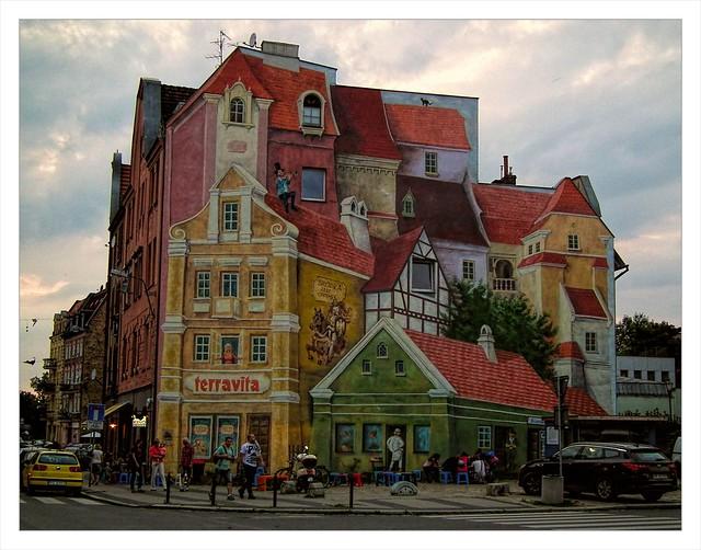 mural 3D ... between illusion and reality ...Śródka Poznań Poland