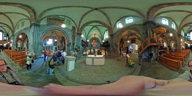 Schweiz - Chur, Kathedrale St. Mariä Himmelfahrt 360 Grad