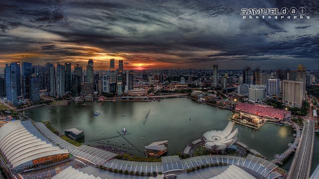 Twilight on Singapore National Day
