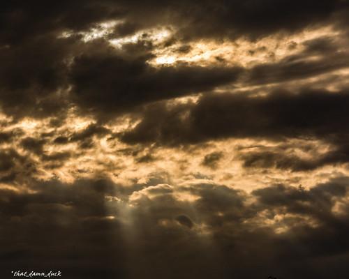 nature sunset sundown sunrays clouds