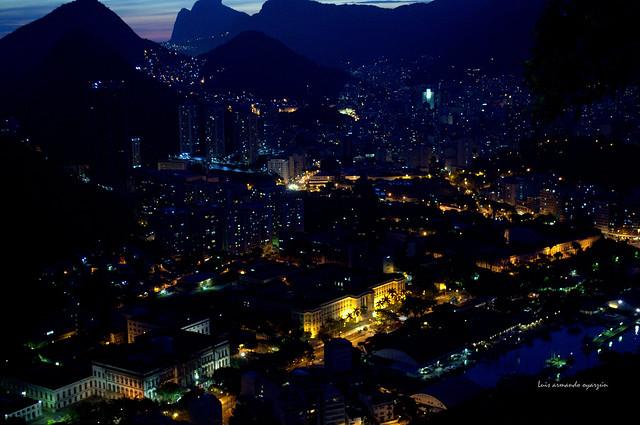 Vista Nocturna. Río de Janeiro.