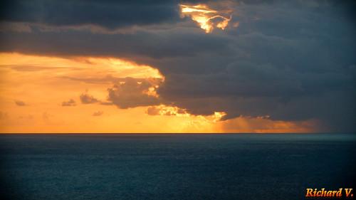 coucherdesoleil caraïbes sunset sintmaarten saintmartin sx soleil nuages naturescenes
