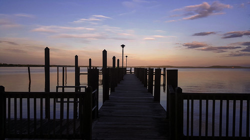 evening pier ocean nature