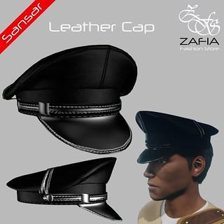 ZAFIA Leather Cap Male Sansar   by ZAFIA Fashion Store-METAPHOR