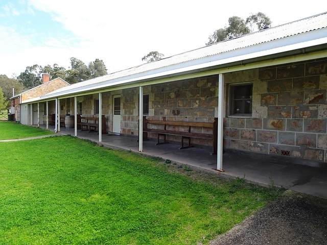 Clare Valley. Bungaree  Station. Old Shearers Quarters opposite the huge woolshed. Built in the 1850s as the Bunk House. .