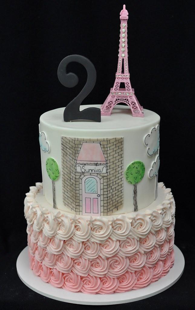 Astounding Paris Birthday Cake Jenny Wenny Flickr Funny Birthday Cards Online Alyptdamsfinfo
