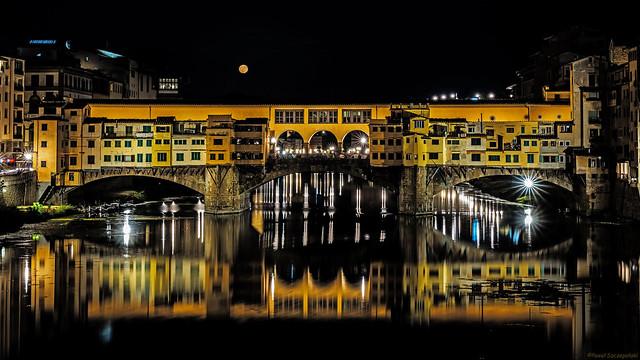 Ponte Vecchio and the moon