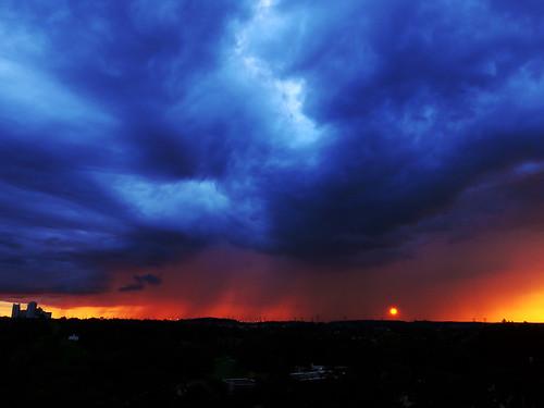 sunset clouds storm rain thornhill gta august 2017