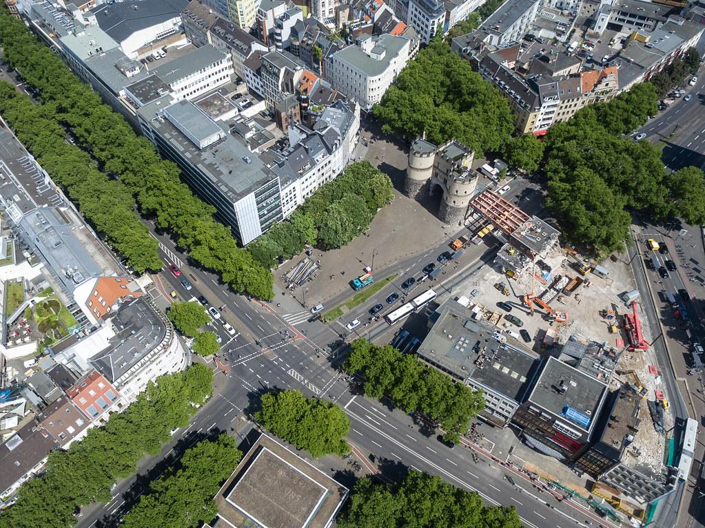 Luftbild: Rudolfplatz, Hahnentorburg und Kölner Ringe