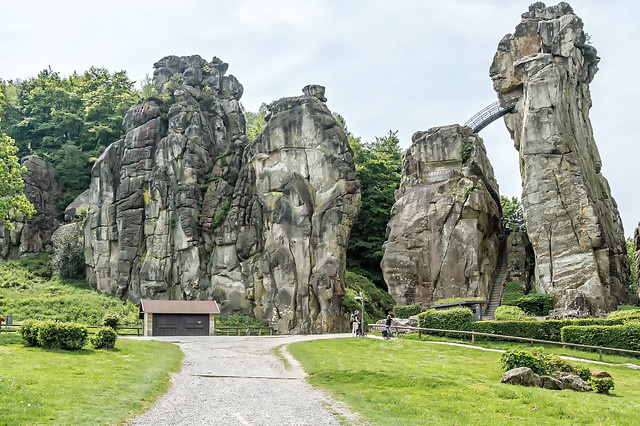 Externsteine  Teutoburg Forest, North Rhine-Westphalia Germany