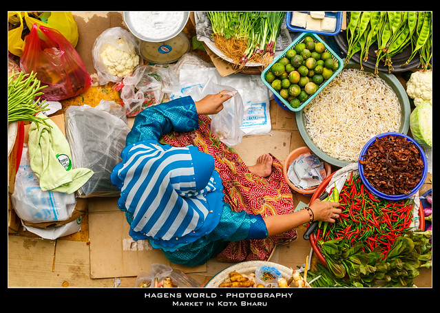 Market in Kota Bharu