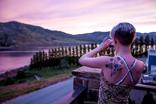 chelan lakechelan washington dusk hills lake skyline sunset tattoo unitedstates
