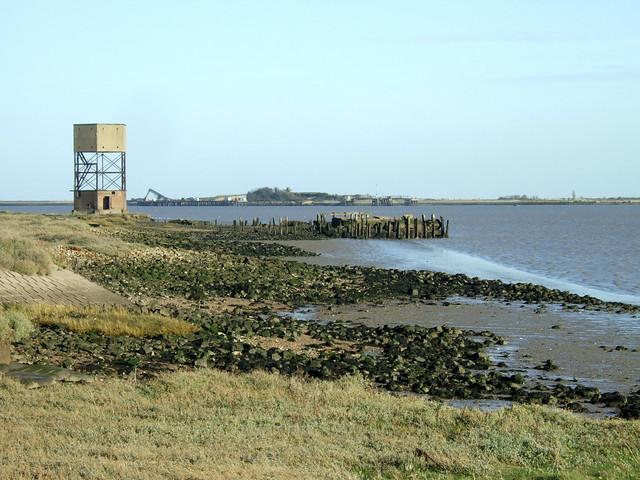 Coalhouse Point on the Thames estuaty