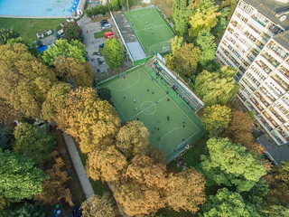 Aerial of Medic Sports Complex in Lviv | by wuestenigel