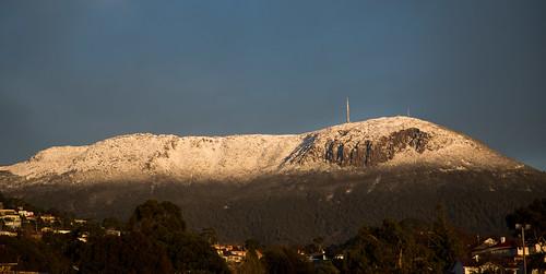 mtwellington hobart tasmania snow winter mountain cold