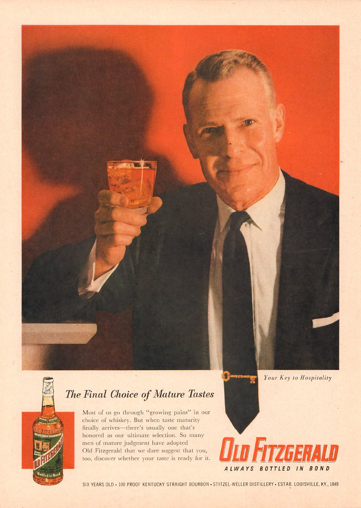 1956 Old Fitzgerald Whiskey Advertisement Time Magazine Ma