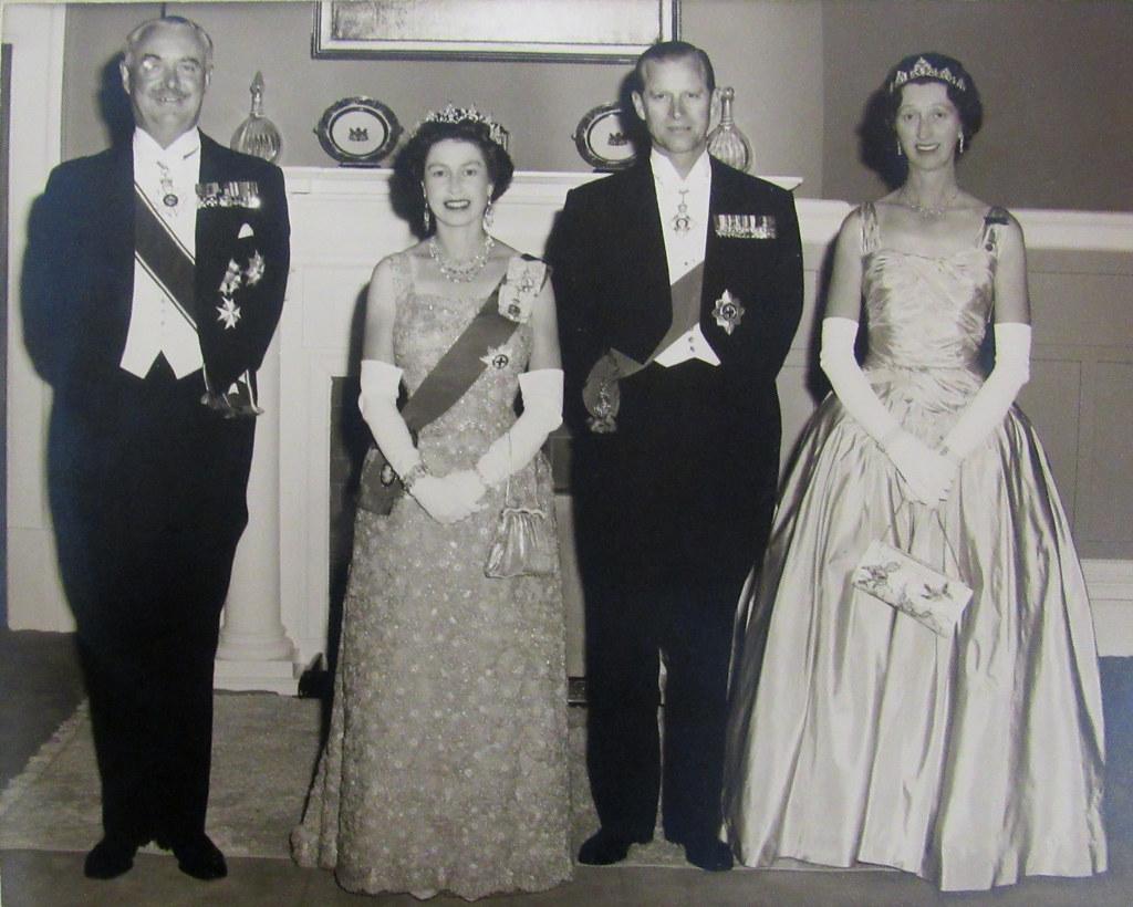 Queen Elizabeth II & The Duke of Edinburgh with Governor G… | Flickr
