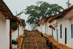 Cobblestone Street Scene, Barichara Colombia