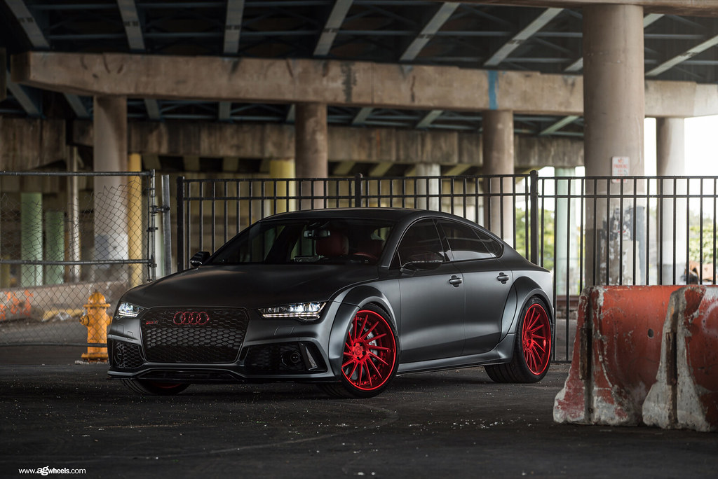 Audi Rs7 F551 Spec3 Matte Brushed Candy Apple Red Wheels P Flickr