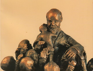 In memoriam Janusz Korczak and the children. 75th anniversary of deportation from Warsaw Ghetto to Treblinka extermination camp, 5 or 6 August 1942