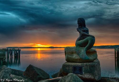 eastport maine hdr mermaid nerida sunrise water