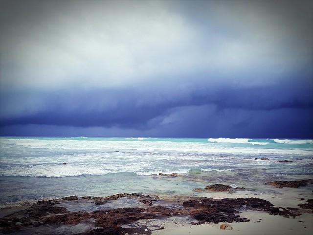 Mar dei Caraibi in tempesta