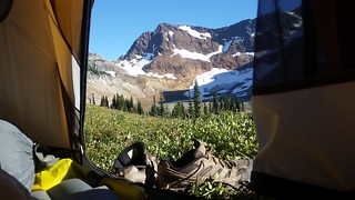 4503 Spider Gap and the Lyman Glacier looking out the door of our tent - What a view! | by _JFR_
