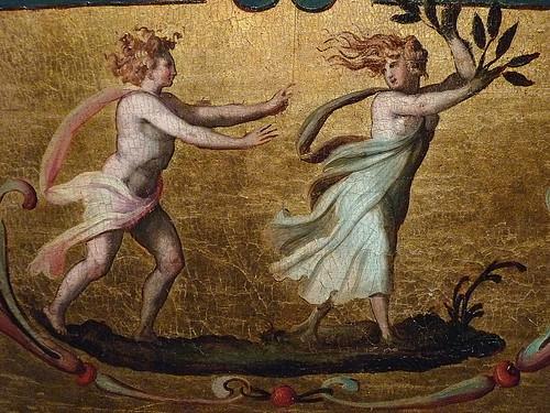 ALLORI Alessandro,1572 - Dossier de Lit avec Scènes Mythologiques et Grotesques, Léda et le Cygne (Florence) - Detail 20