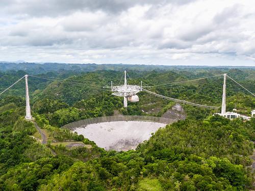 photosbymch landscape aerialphotography karstsinkhole inspirephotos observatory radiotelescope radiointerferometer telescope arecibo puertorico usa 2016 jamesbond goldeneye contact outdoors