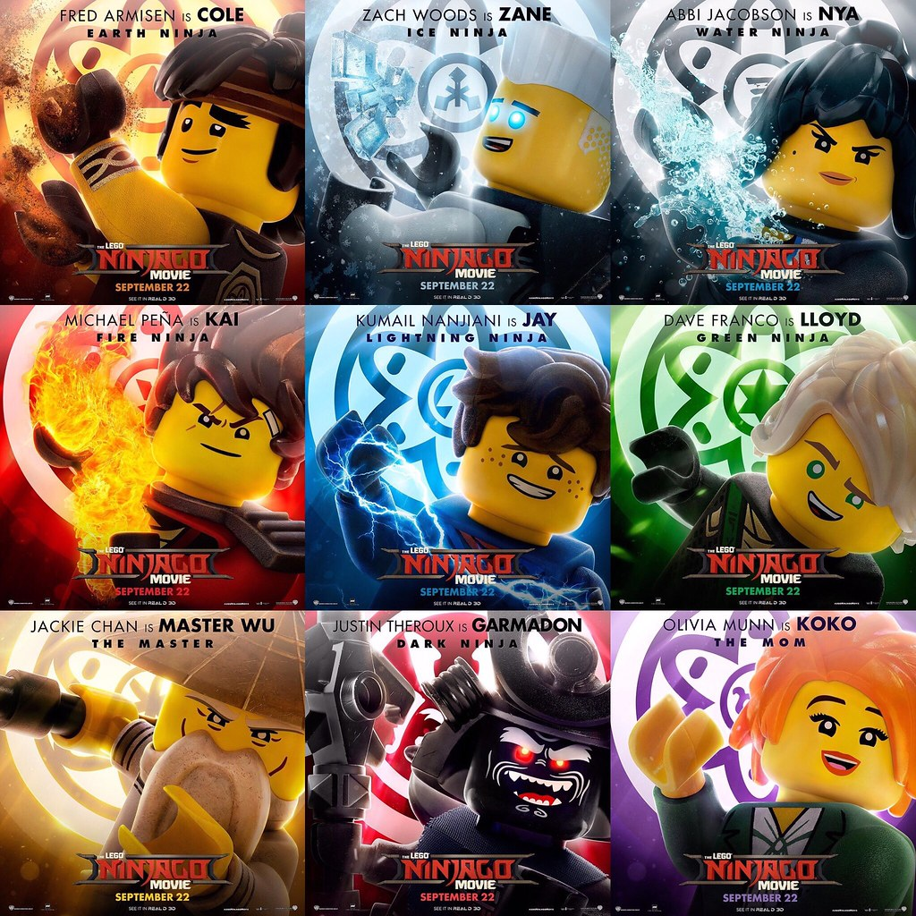 The Lego Ninjago Movie Character Posters Read More About Flickr