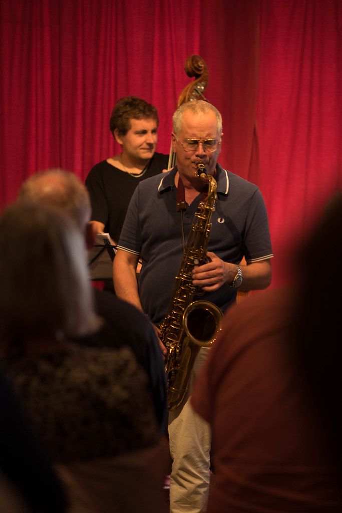 Hans Ulrik (tenorsax) and Thomas Fonnesbæk (bassist)  - Lars Jansson Trio with Hans Ulrik, tenorsax at The Cafe