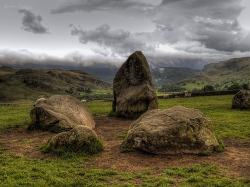 britain uk england cumbria lakedistrict castlerigg stones stonecircle landscape