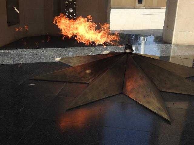 Eternal flame at the Baku Martyrs' Memorial