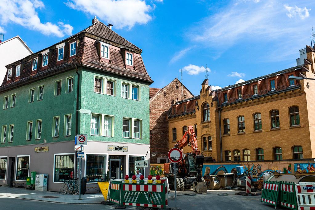 Pfarramt Lobeda-Altstadt, Evangelical Church, Jena, Germany Stock ... | 681x1023