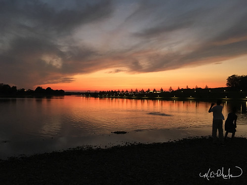 memphis tennessee shelby farms sunset lake sky