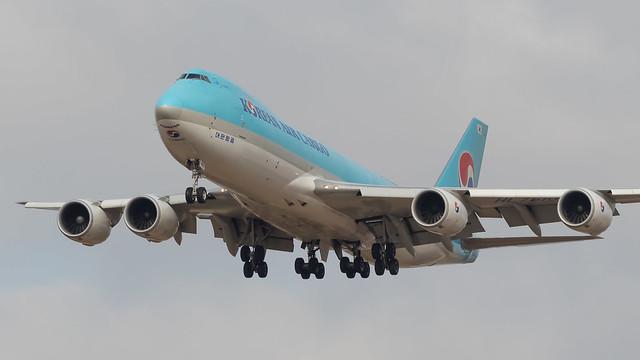 TLV - Korean Air Cargo Boeing 747-8 Freighter HL7601