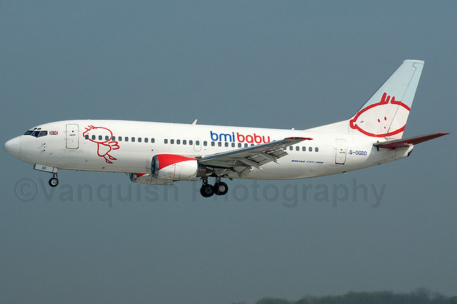 G-OGBD BMI Baby B737-300 East Midlands Airport