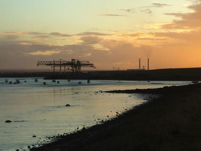 Sunset at Mucking Marshes