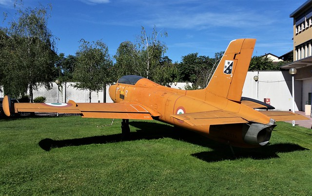 Aermacchi MB-326 MM54204/- (With back rear of MM54277) ex Italian Air Force/ AMI. Preserved, Milano (Politecnico Campus). 26 July 2017.