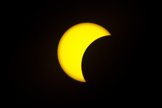 Sun eclipse in NYC  . Aug 21   2017 NYC