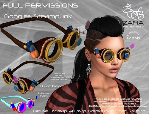 ZAFIA Goggles Steampunk | by ZAFIA Fashion Store-METAPHOR