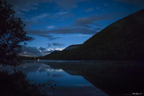 capebreton calm lake mountains cloud moonlight cabottrail reflection