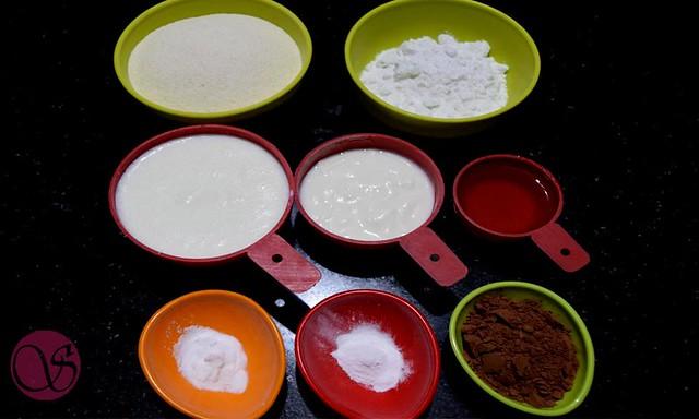 Chocolate semolina cake Ingredients