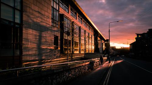 streetphotography shadow sunset ireland street faceless orange light shadows urban pink woman dublin yellow city contrast countydublin ie onsale