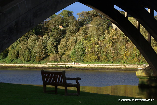 Looking under the arch of the road bridge in Berwick-Upon-Tweed