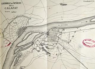 1877 Harta Cu Lucrările De Intărire De La Calafat Flickr