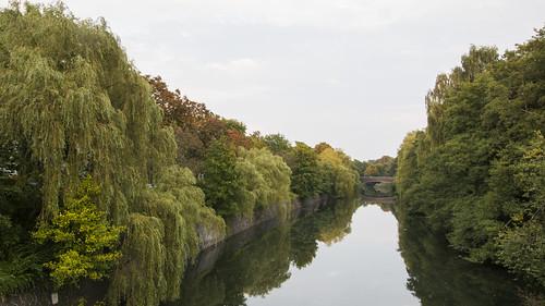 hamburg hh deutschland germany norddeutschland kanal eilbekkanal autumn herbst reflection water trees green