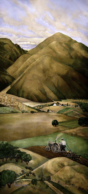 Bay Area Hills, by Rinaldo Cuneo, Coit Tower